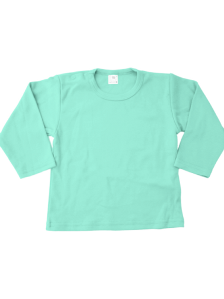 T-shirt lange mouw - mint