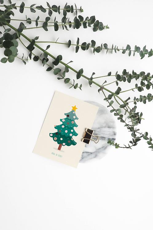 Kerstkaarten pakket van 5 stuks