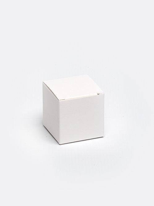 Kubus in karton - wit