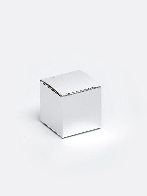 Kubus in karton - zilver