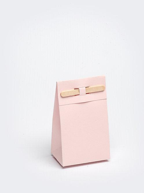Kartonnen doosje met houten stokje - pink