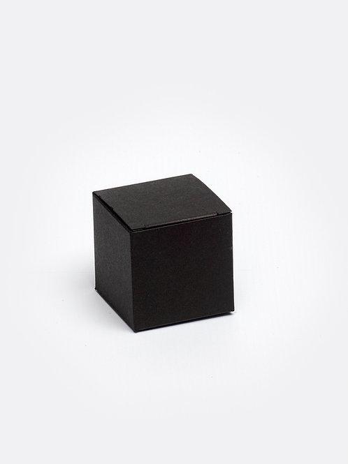 Kubus in karton - zwart