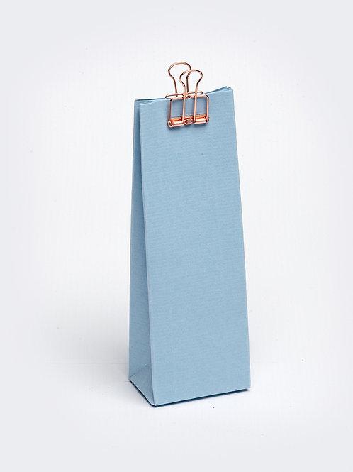 Hoog doosje met gaatje - lichtblauw