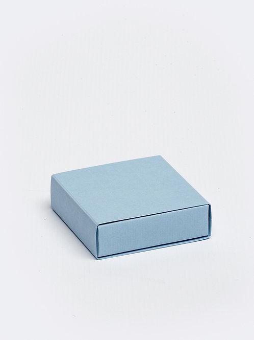 Vierkant doosje karton - lichtblauw