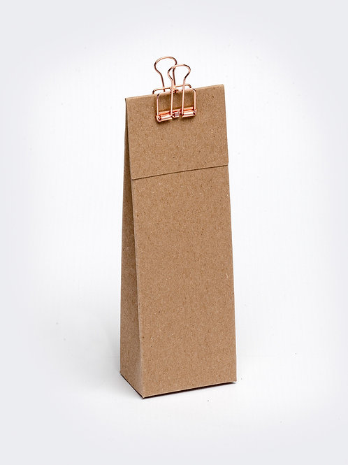 Hoog doosje met klep in karton - kraft