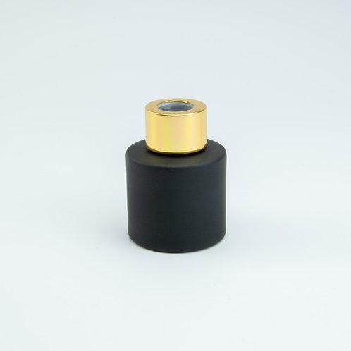 Zwarte geurflesjes incl. 5 geurstokjes