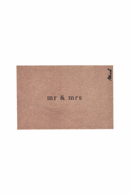 Mr & mrs - Mad about mats