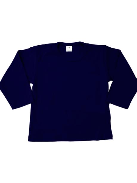 T-shirt lange mouw - navy