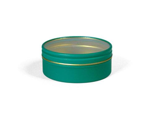 Rond blik - doorzichtig deksel Groen
