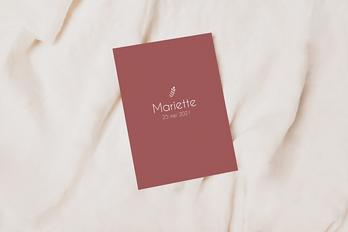 Collectiekaart Mariette