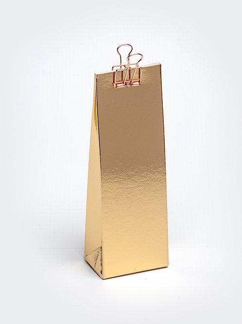 Hoog doosje met gaatje - goud