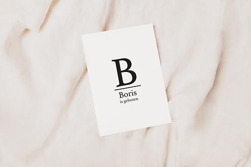 Collectiekaart Boris