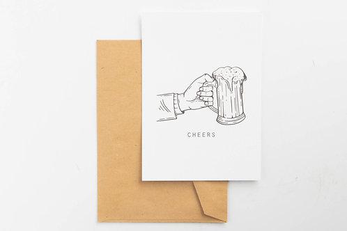 Wenskaart - Cheers beer