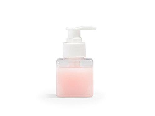 Zeeppompje kubus transparant - 90 ml