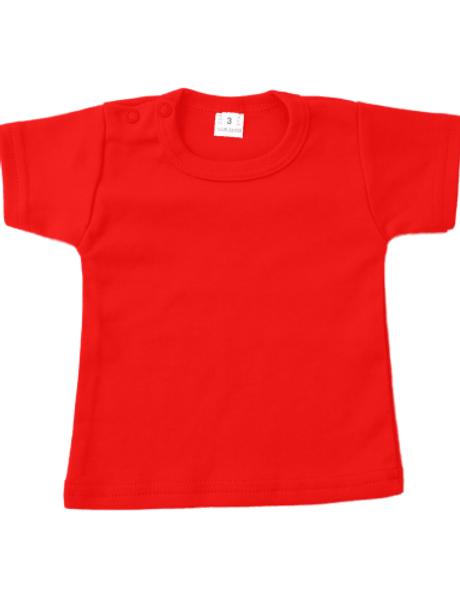 T-shirt korte mouw - rood