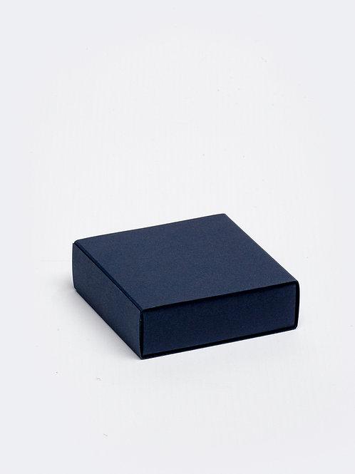 Vierkant doosje karton - navy