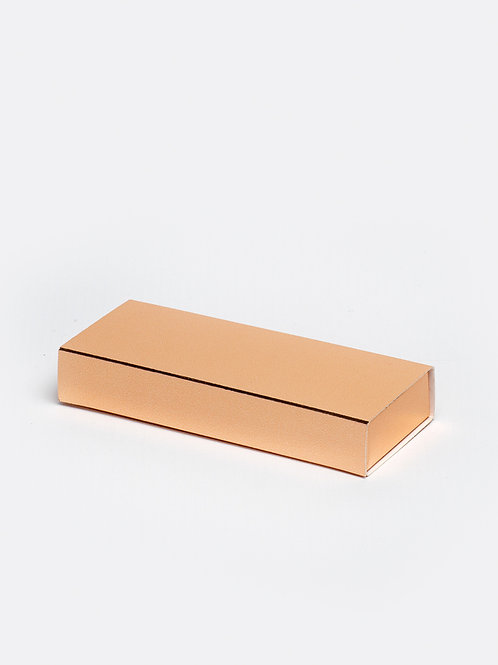 Schuifdoosje karton - koper