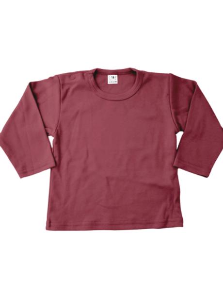 T-shirt lange mouw - burgundy