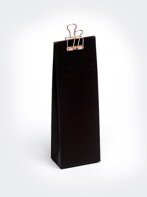 Hoog doosje met klep in karton - zwart