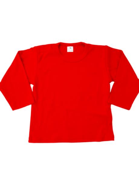 T-shirt lange mouw - rood