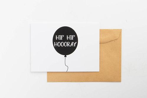 Wenskaart - Hip hip hooray
