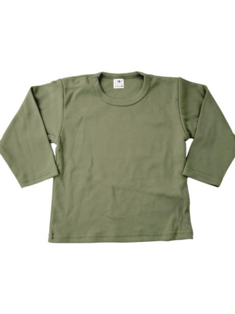 T-shirt lange mouw - khaki