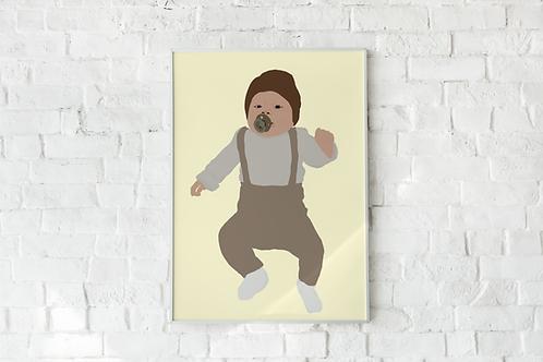 Geïllustreerde poster op maat