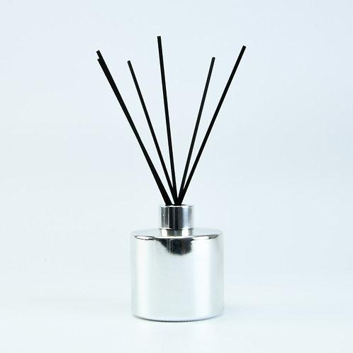 Groot zilveren geurflesje incl. 5 geurstokjes