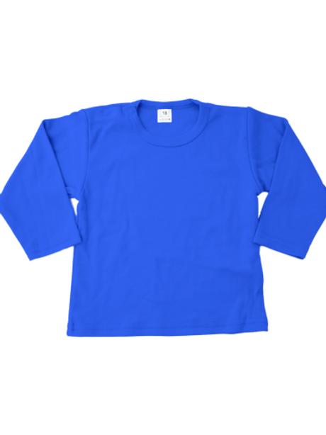 T-shirt lange mouw - royalblue