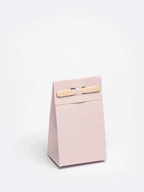 Kartonnen doosje met houten stokje - nude
