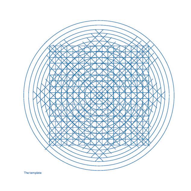 tracé regulateur pour la construction des pictogrammes