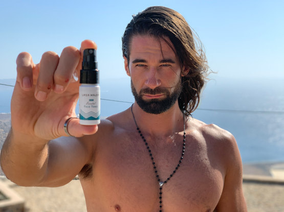 Our trainer Alex (The Bachelor) MArks showcasing our sponsor's product