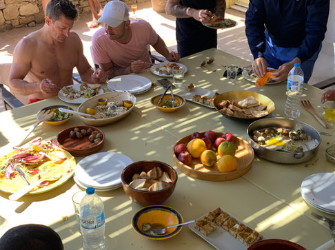 Our Mykonos Retreat guests tucking into brunch