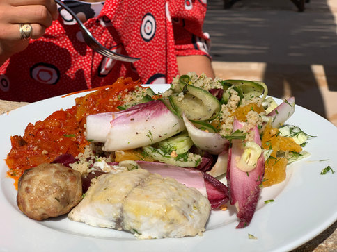 It's brunch time - chef Nati's amazing food, freshly cooked from local ingredients daily
