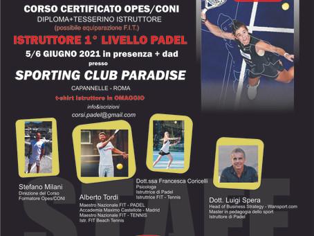 Corso Certificato Opes/Coni