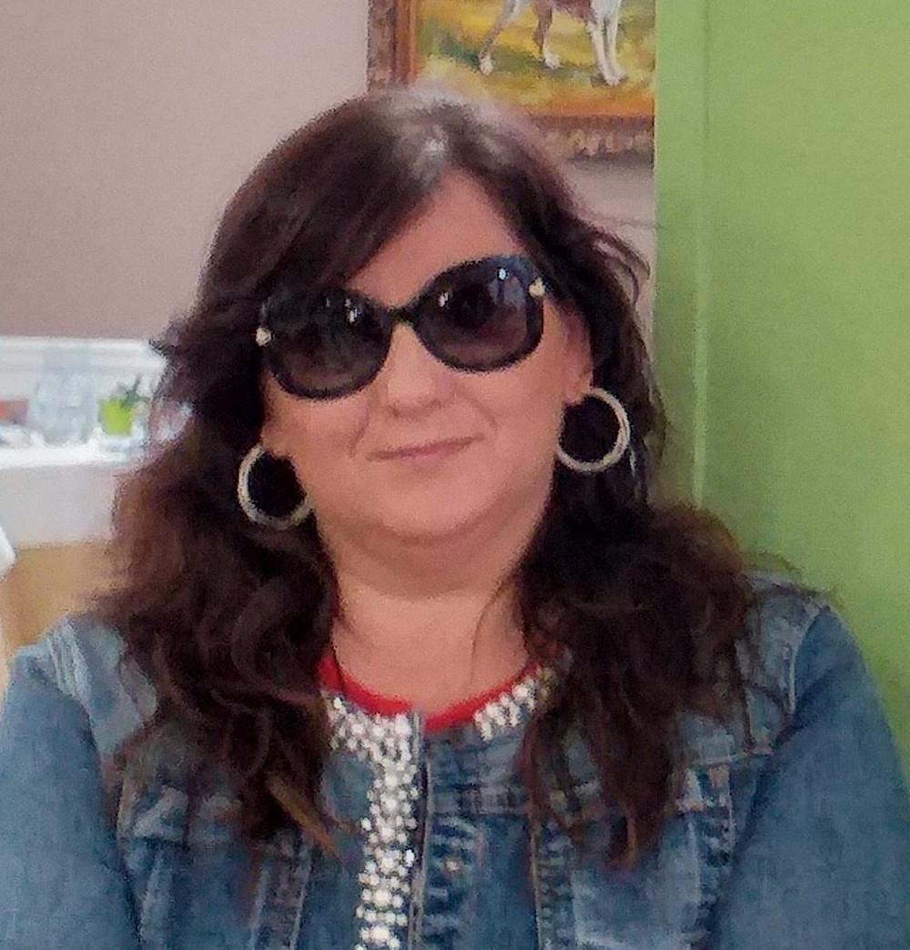 L'Artista, giornalista e compagna di Palmieri, Licia Caggianelli