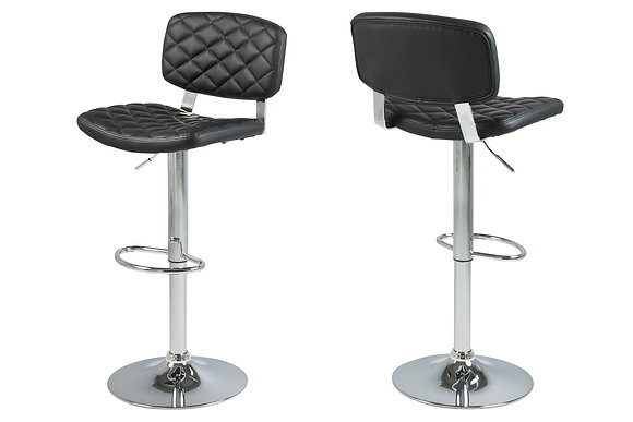 DIAMOND-STITCHED BARSTOOL
