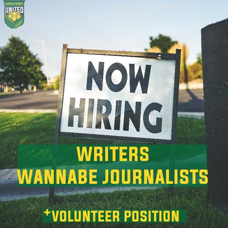 Volunteer Writers Wanted