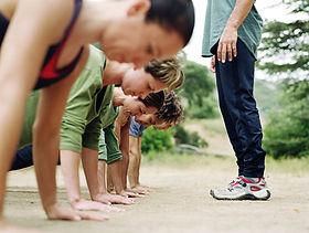 People doing push-ups