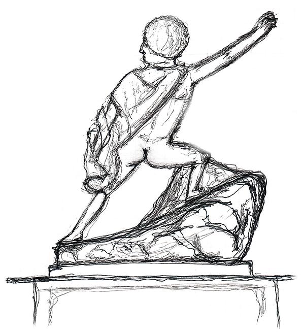 Uffizi Gallery Statue Sketch.png