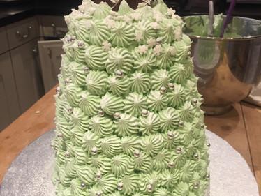 Vanilla sponge Christmas theme cake