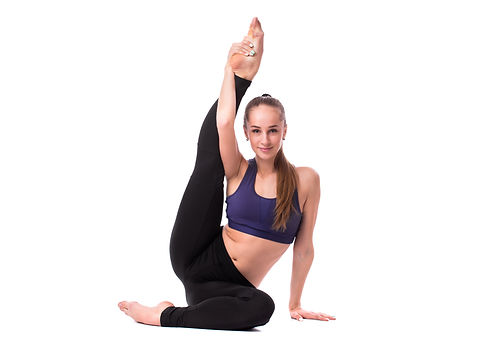 young-fitness-woman-doing-yoga-white-bac