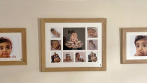 A beautiful wall of memories – from newborn baby to 1 year old