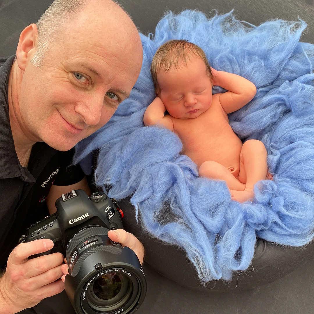 Derek baby photoshoot