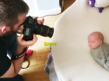 Take a look behind the scenes of baby photography training