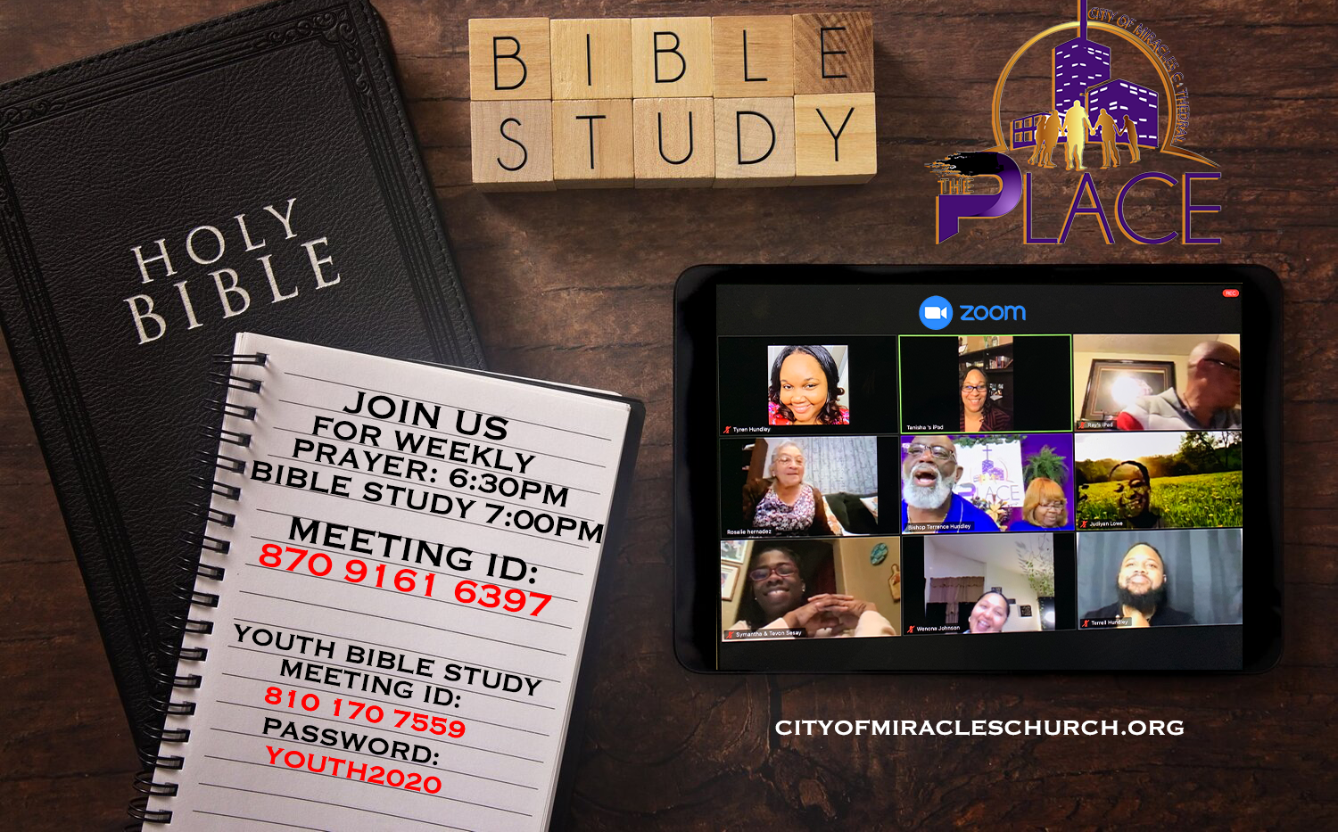 Join us for Weekly Bible Study @ 7PM