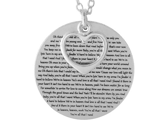 Words of Wisdom Necklace - Personalized