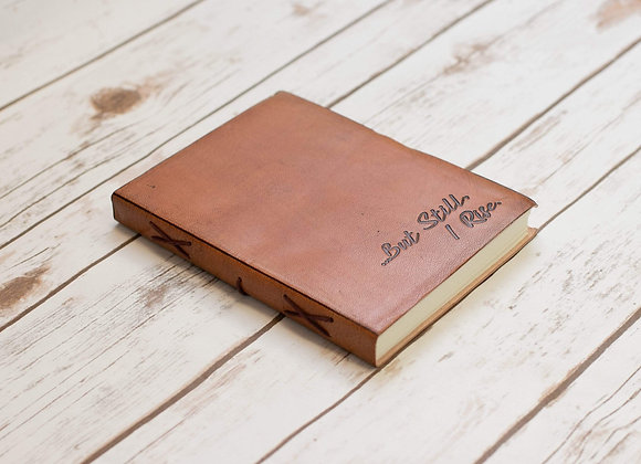 But Still I Rise Quote Leather Journal - 8x6 Size