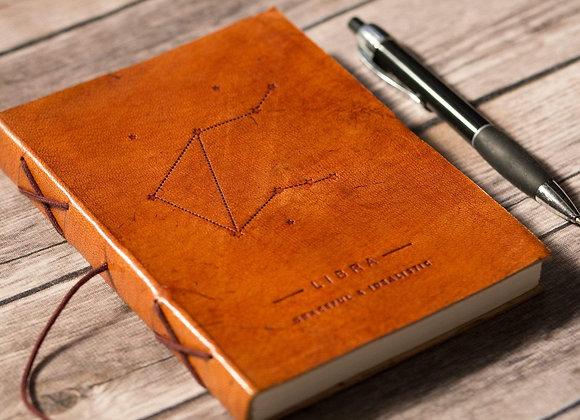 Libra | Leather Journal | Handmade