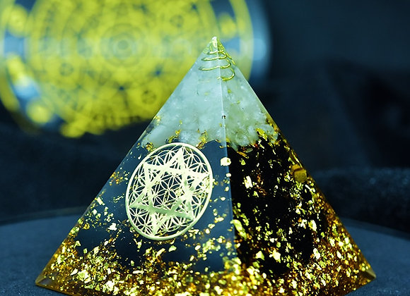 Orgonite Pyramid - Obsidian